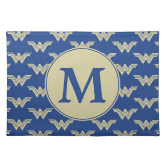 Monogram Wonder Woman Logo Pattern Placemat