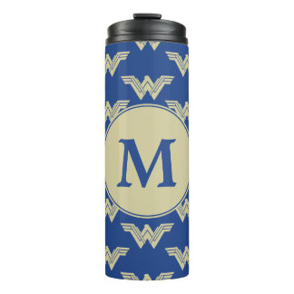 Monogram Wonder Woman Logo Pattern Thermal Tumbler