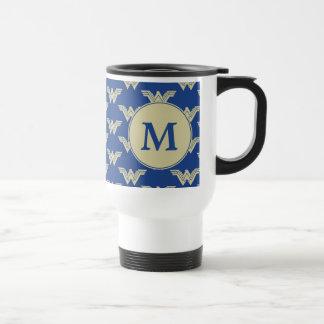 Monogram Wonder Woman Logo Pattern Travel Mug