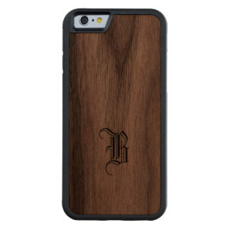 Monogram Wood Finish iPhone cover Carved® Walnut iPhone 6 Bumper Case
