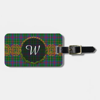 Monogram Wood Tartan Bag Tag