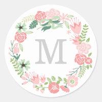 Monogram Wreath | Envelope Seal
