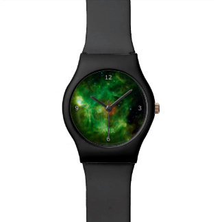 Monogram, Wreath Nebula, outer space picture Watch