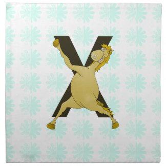 Monogram X Agile Pony Customized Cloth Napkin