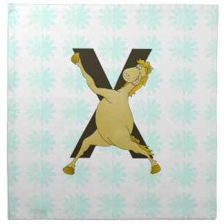 Monogram X Agile Pony Customized Printed Napkin