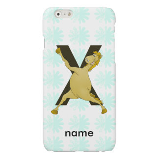 Monogram X Funny Pony Customized iPhone 6 Plus Case
