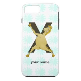 Monogram X Funny Pony Customized iPhone 7 Plus Case