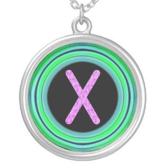 """Monogram """"X"""" Necklace"""