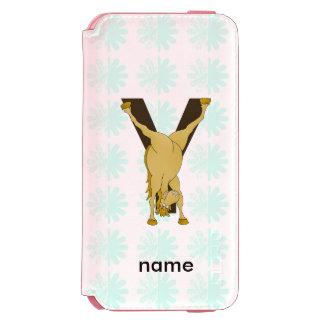 Monogram Y Funny Pony Customized Incipio Watson™ iPhone 6 Wallet Case