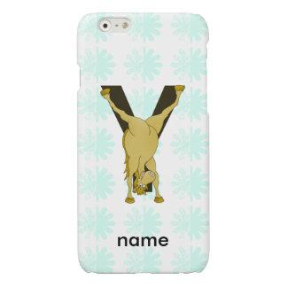 Monogram Y Funny Pony Customized iPhone 6 Plus Case
