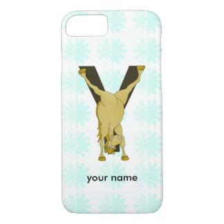Monogram Y Funny Pony Customized iPhone 7 Case