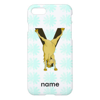 Monogram Y Funny Pony Customized iPhone 7 Case