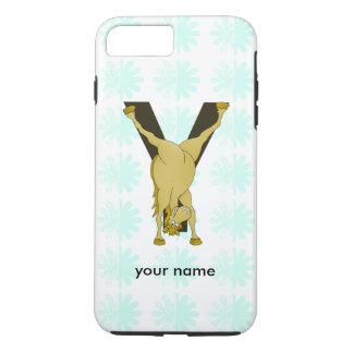 Monogram Y Funny Pony Customized iPhone 7 Plus Case