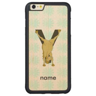 Monogram Y Funny Pony Personalised iPhone 6 Plus Case