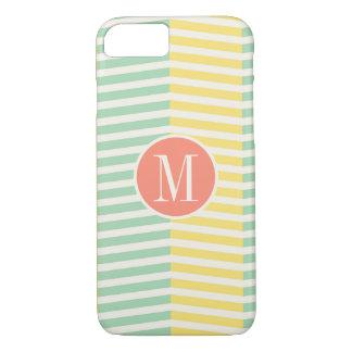 Monogram Yellow and Green Chevron iPhone 8/7 Case