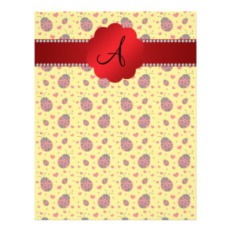 Monogram yellow ladybug hearts full color flyer