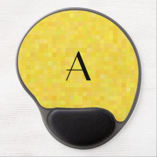Monogram yellow mosaic squares gel mouse pad