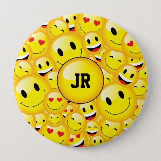 Monogram Yellow Smiley Emoji Art Symbol Pattern 10