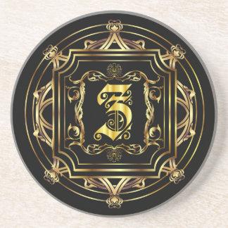 Monogram Z Customize Edit Change Background Coasters