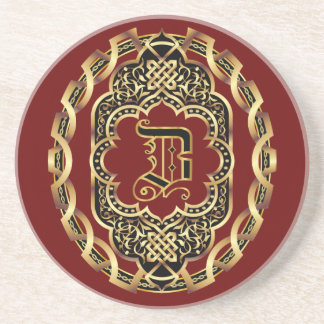 Monogram Z Customize Edit Change Background Drink Coaster