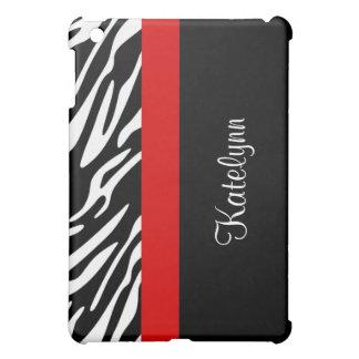 Monogram Zebra Print iPad Case