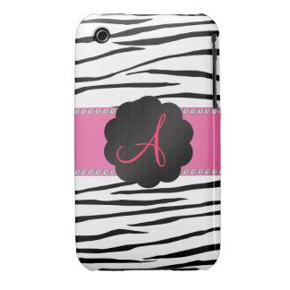 Monogram zebra stripes iPhone 3 Case-Mate case