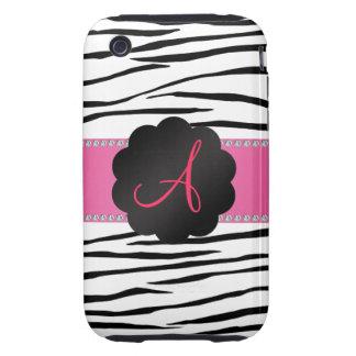 Monogram zebra stripes tough iPhone 3 cases