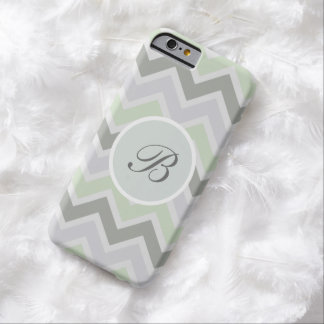 Monogram Zigzag Style Barely There iPhone 6 Case