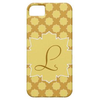 Monograma and yellow arabesque mosaic and gold