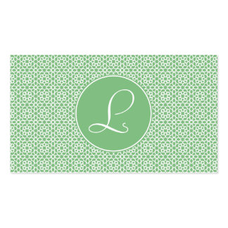 Monograma of arabesque Moroccan green geometry Pack Of Standard Business Cards