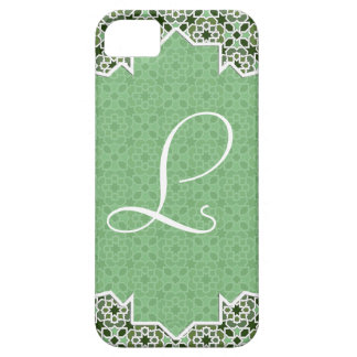 Monograma with mosaic of arabesque barely there iPhone 5 case