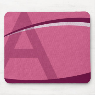Monogramed A Mouse Mats