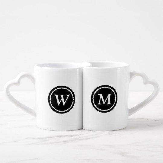 Monogramed Best Half Mug Set