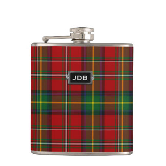 Monogramed Clan Boyd Tartan Plaid Flask