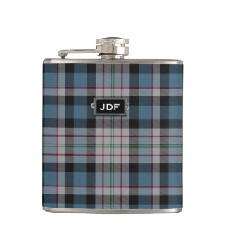 Monogramed Clan Ferguson Tartan Plaid Flask