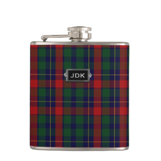 Monogramed Clan Kilgour Tartan Plaid Flask