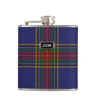 Monogramed Clan MacBeth Tartan Plaid Flask