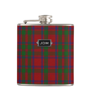 Monogramed Clan MacIntoshTartan Plaid Flask