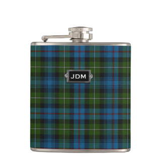 Monogramed Clan MacKenzie Tartan Plaid Flask
