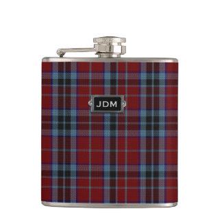 Monogramed Clan MacTavish Tartan Plaid Flask
