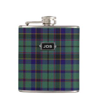 Monogramed Clan Stephenson Tartan Plaid Flask