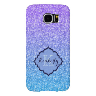 Monogramed Colourful Glitter And Sparkles Pattern Samsung Galaxy S6 Cases