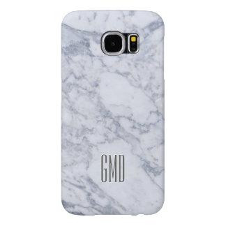 Monogramed White Marble Stone Pattern