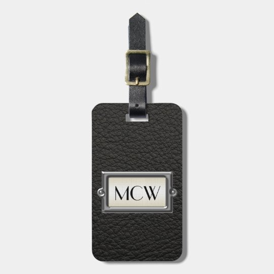 Monogrammed 3-Letter Executive Men's Personalised Luggage Tag