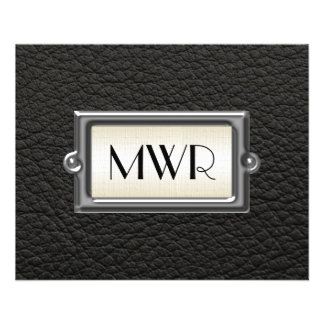Monogrammed 3-Letter Executive Men's Personalized 11.5 Cm X 14 Cm Flyer