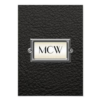 Monogrammed 3-Letter Executive Men's Personalized 13 Cm X 18 Cm Invitation Card