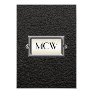 Monogrammed 3-Letter Executive Men's Personalized Custom Announcement