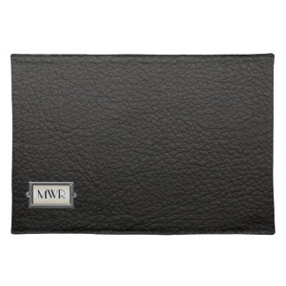 Monogrammed 3-Letter Executive Men's Personalized Cloth Place Mat