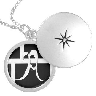 Monogrammed A Charm Round Locket Necklace