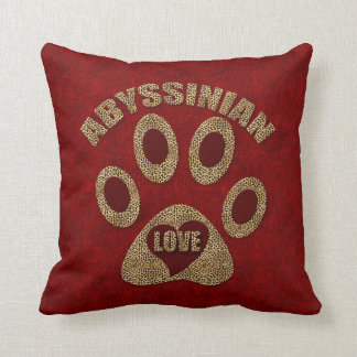 Monogrammed Abyssinian Cat Breed Cushion